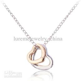 Wholesale Double Heart Pendant Necklace vintage camera solid gold k swarovski box gold diamond ring mens hip hop jade necklace drop c amp c
