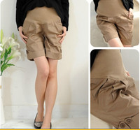 Wholesale Hot High Quality Comfortable Adjustable Button Summer Loose Maternity Trousers Pants Pregnant Shorts