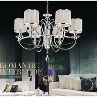 Wholesale European Modern quot Lights Living Room Chandeliers Restaurant Chain Pendant Lamp Dining Room Bar Counter Polished Chrome Pendant Light