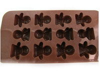 Set FDA  Free shipping for cake chocolateFree shipping for cake chocolate mold tool doll shape silicone mould new
