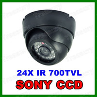 CCD Indoor 24 LED HD 700TVL SONY CCD Effio OSD Menu CCTV Security Indoor Dome Camera 24IR LED