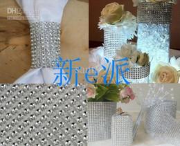 Wholesale 4 inch Bling Diamond mesh Wrap ribbon Rhinestone Mesh Crystal Ribbon