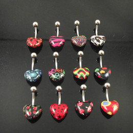 120pcs lot Free Shipping 14G belly button rings mix logo design navel ring body piercing jewelry
