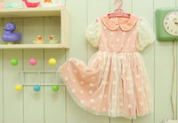 Cheap Summer baby girls dresses Best Short Sleeve 100% Cotton short sleeves dresses