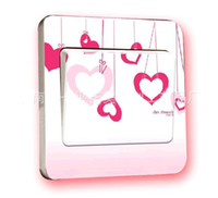 Wholesale more Designs Cartoon Switche Decorative Stickers Decal Lots2000
