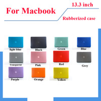 Wholesale Matt Rubberized Translucent Hard Case Cover for quot inch macbook Air Mac pro Aluminum Unibody retinas