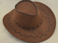 Wholesale MICROFIBER cowboy hat Resort Landscape men s Stingy Brim Hats Arts and crafts hat no Logo men s hats piece