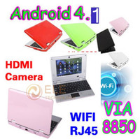 Wholesale DHL Via Inch Touch Screen Android Tablet PC HDD GB Camera HDMI Mini Laptop BZ