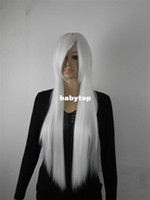 Body Wave Brazilian Hair  Free Shipping Heat Resistant new long white cosplay party wigs
