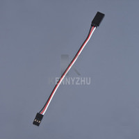 Wholesale 100pcs mm Servo Extension Cord Wire Cable Steering Line For RC Airplane Helicoptor