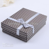 Paper Grey Rings,Earrings New Arrival Grey Square Paper Jewelry Gift Box Display For Ring Earrings And Necklaces 30pcs per lot