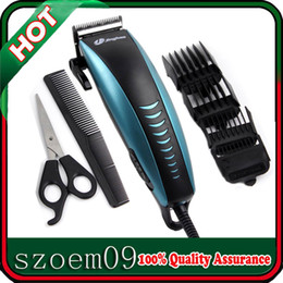 Wholesale 9W Jinghao Professional Low noise Silent Powerful Electric w EU Plug Steel Blade Men Shaver Hair Trimmer Clipper