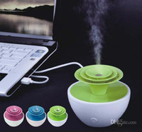 Wholesale Mini USB Humidifier YGH389 Greenhouse Humidifier for office or home use Mini Ultrasonic Aroma Diffuser Air Refresher Humidifier Newest