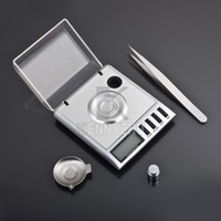 Wholesale Mini Portable g Digital LCD With Balance Weight Milligram Pocket Jewelry Diamond Scale