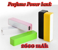 Wholesale New Perfume External Power Bank Portable Battery Charger Source mAh For Iphone Ipad Sumsang Mobile Cell phone
