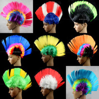 Wholesale New personality men women Halloween party wigs rock festival cosplay comb hair t5602