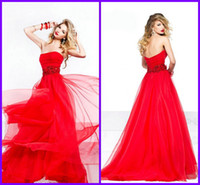 Buy Cheap Tarik Ediz Inspired Hot Red Chiffon Long Lady Even...