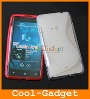 Wholesale Anti Skid THIN S Line Rubber TPU Gel Skin Case Cover Pouch for Nokia Lumia NK625C01