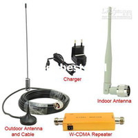 Wholesale New Up to Square Meter WCDMA MHz G RF Repeater Mobile Phone Signal Booster Amplifer Kits