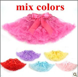 Wholesale Baby TuTu Dress Korea Style skirt Dresses Kids cute bowknot Skirt Girl s Pleated Skirt mix color