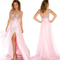 Wholesale 2013 Sexy Sweetheart Sequin Bead Organza Short Sleeve Backless Homecoming Dresses Evening Dresses Prom Dresses