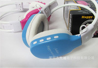 Wholesale Card compatible MP3 stereo sound with FM radio function Folding headphone factory price DHL Ship