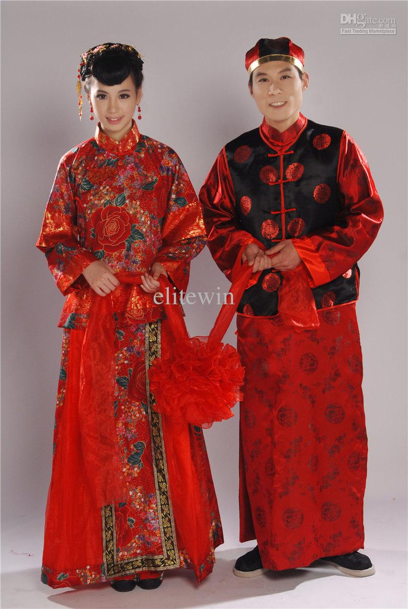 Bridal groom wedding dress chinese cheongsam groom suits for Traditional chinese wedding dress hong kong