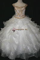 Wholesale Off shoulder Flower Girl dress Girl s Pageant princess party ball formal Dresses custom made