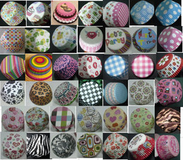 Wholesale Beautiful food grade priting Baking cups cupcake liners muffin cases paper cake cup Wedding party