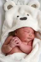 baby product fleece blanket - Minizone Products Baby coral fleece embrace be neonatal cotton bear arms towel Babies Bedding supplies Wrapped Blankets White