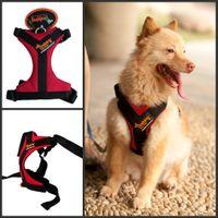 Wholesale Ondoing A50040 Red Color Pet Vest Dog Vest Warm Thickening Type Pet Dog Plush Vest Dog Leash Dog Collars