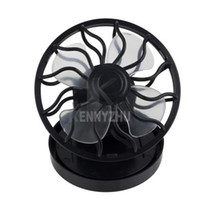 Wholesale Cap Solar Energy - Mini Portable Solar Energy Power Fan Clip-on Hat Fan Cap Cooling Fan Car Clip FaCurler Comb Mascara Brush Baffle Eyelash Card Tool