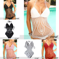 Wholesale Sexy Swimwear Handmade Sexy Lady Bikini Cover Up Crochet Beach Swimsuit Monokini Mini Dress