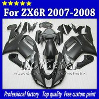 Wholesale 7 Gifts fairings body kit for Kawasaki Ninja ZX R ZX6R ZX R all flat black abs fairing SH115
