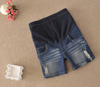 Wholesale Maternity Shirt Maternity Denim Jeans set Pregnant Women Suits Summer Clothing Wears