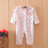 Wholesale Paragraph season printed baby romper suit the infant child climb clothes colorful little fish at least