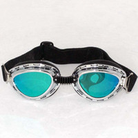 Wholesale UV PROTECTION POLYCARBONATE DARK LENS MOTORCYCLE JET SKI PADDED GOGGLES