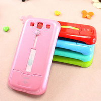 Wholesale Hard Plastic Case Skin Cover Back Cases with Mirror Card Holder For Samsung Galaxy S3 i9300
