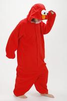 adult elmo onesie - Sesame Street red Elmo cosplay Costume Adult romper pajamas pyjamas onesie