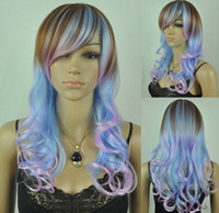 Multi-Color African-American Wigs  Capless Mixed Color High Quality Synthetic Wig 10pcs lot mix order free shipping