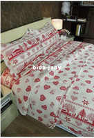 Wholesale Happy Christmas Red on white original patchwork quilt bedding set Quilt size cm Material cotton