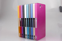 For Sony   Fashion Aluminium Metal Middle Bumper Case With Back Cover For Sony Xperia Z L36h