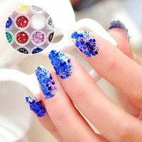Nail Art 3D Decoration Nail Art Bead  Mix 12 Color New Nail Art Rhinestones Glitters Acrylic Tips Decoration Manicure Wheel Nail Sticker