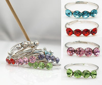 Wholesale 60pcs X Crystal Adjustable Toe Ring Body Jewelry Pack