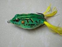 Wholesale 6 Colors New Frog fishing Lures CM G popper leapfrog bait fishing lure soft frogs