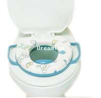 Cheap baby soft toilet seat cushion child seat with handles baby toilet seats FREE SHIPPING U055