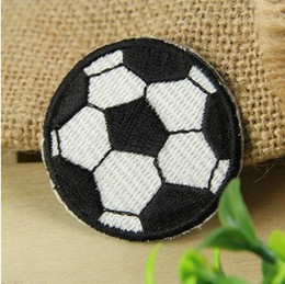 Wholesales~10 Pieces Football Badge (5 x 5cm) Sports Full Embroidered Applique Iron On Patch Kids Patch