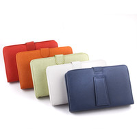 Wholesale 7 inch USB Stand Leather Folding Keyboard Cases for inch Q8 Sanei N77 Tablet PC Mixed Colors