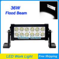 "Wholesale Cheapest Led Flood Lights - 7.5"" 36W offroad LED Work Light Bar Flood Beam Work Light, 4WD 4X4 BOAT UTV SUV Car IP67 6000K Cheap Shipping"
