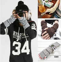 Wholesale Brand New Korean Style Fashion Lady Long Arm Gloves Fingerless Warm Gloves Arm Knitted Gloves Knitted Arm Mittens Sleeve
